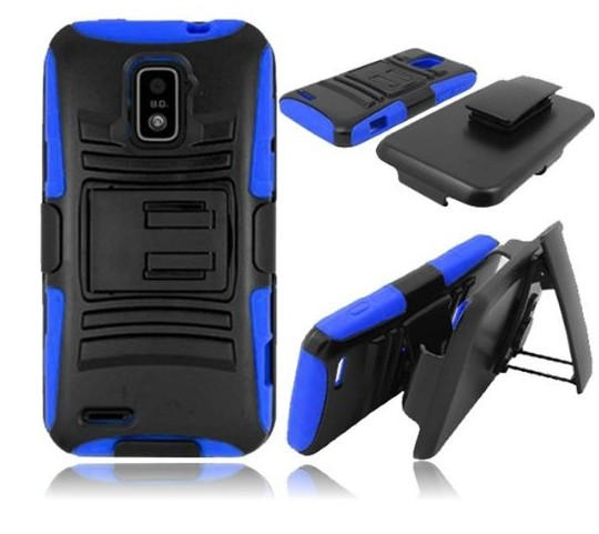 3 in 1 Hard case for Alcatel One Touch Fierce 7024W Hybrid Cover with Kickstand and Holster