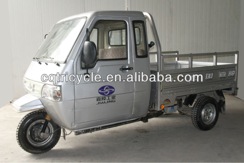 250cc lifan engine three wheelers closed cabin tricycle