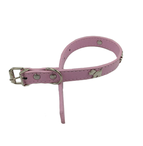 2018 New Custom Leather Dog Accessories Pink Pet Collar