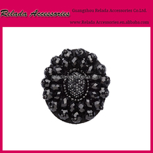 vintage shoe clips with black beads and sequins! Adorable little flower pattern shoe clips to adorn your shoes