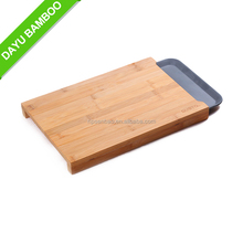 Large Rectangle Bamboo Cutting Board with Melamine Tray