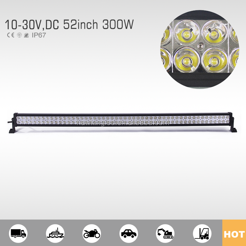 52 inch 300W offroad Epistar LED car light bar IP67 auto part
