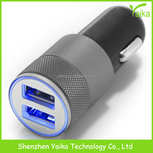 2017 led lighting car charger usb 5v2.1a , Mini 12v 2a dual USB Car Charger supplier