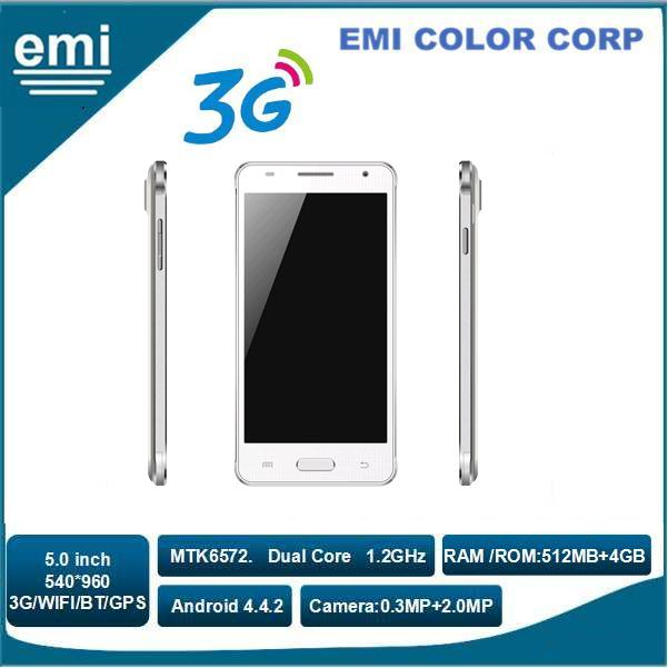 3G Dual SIM Smart Phone Support WIFI. GPS. FM. Bluetooth,MTK6572 Dual Core 1.2GHz 5.5 inch IPS 540*960 Android Smart Phone