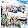China supplier sublimation printing custom printed linen pillow cover