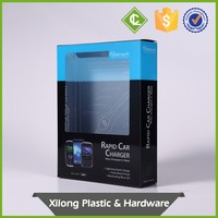 Custom-made automatic-lock bottom folded pet plastic usb packaging boxes