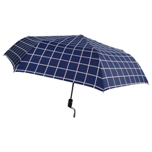 Blue stripe 3 folding umbrella cover air condition umbrella with cover