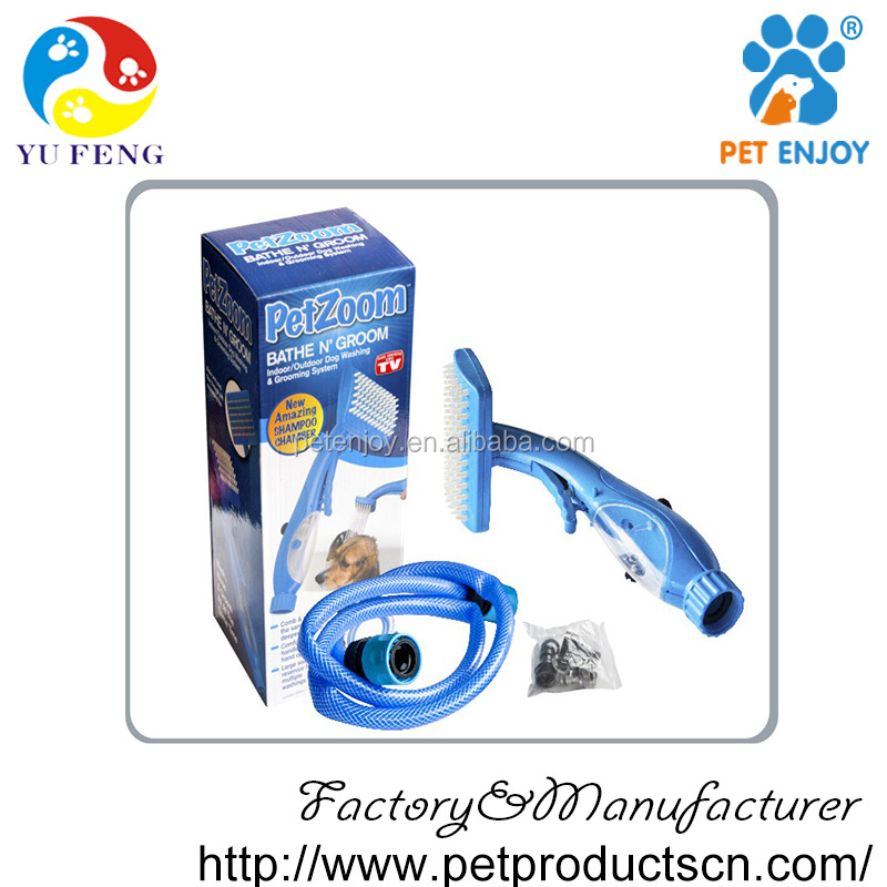 Pet Zoom Self Cleaning Grooming Brush ,dog wash body cleaning products