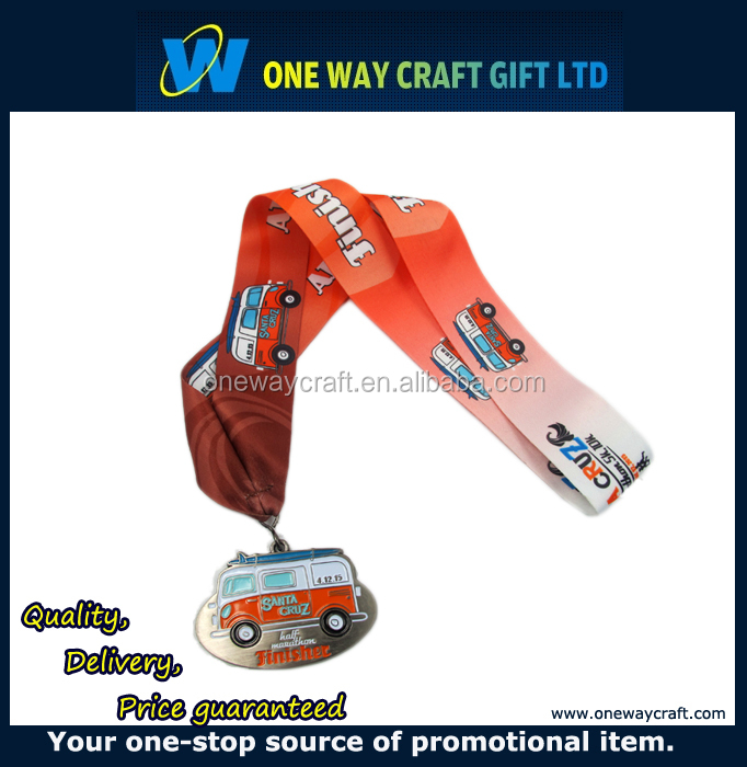 Supply Polyester Material Silk Screen Printed Children's Ribbon Lanyards For Medal