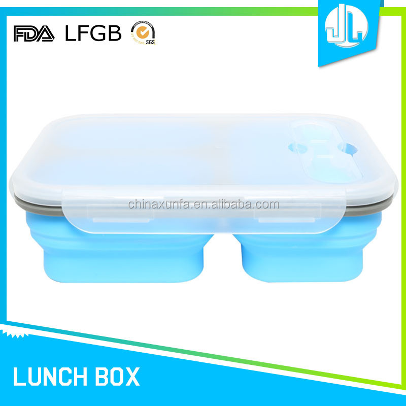 Foldable competitive price microwave oven lunch box