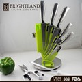 Butcher knife with Scissor and Knife sharpener 7 Pcs Stainless Steel Knife Set