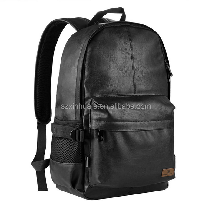 Alibaba China Casual Mens Zipper Laptop Bags Backpack PU Leather Backpack Designer Manufacturer