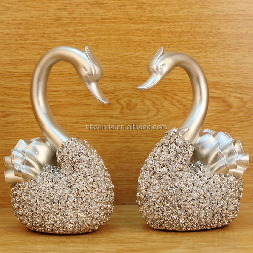 Home <strong>Decoration</strong> 2pc 1set Swan Resin Wedding Gifts For Guests