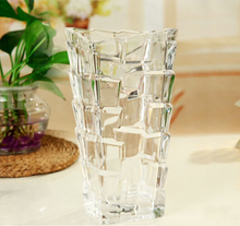 clear glass glass vase for hotel home decoration