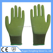 Anti-Slip Spandex Bamboo Fiber Crinkle Latex Coated Working Gloves For Automotive Assembly