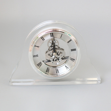 High Quality Clear Crystal Clock for Table Decorations and Wedding Gift