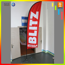 Corss Base Knitted Polyester Banner and Flag