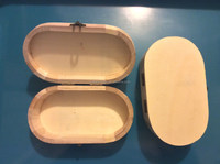 High quality competitive and delicate ellipse wooden box for jewelry triangle shape painted on the lid