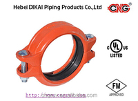 "FM UL Approved Grooved Pipe Fitting rigid coupling 1""-12"" 300psi"