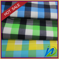 T/C 65/35 32*32 130*70 152gsm green/blue/yellow checked fabric for textile
