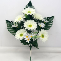 cheap 9 branches of artificial sunflower bouquet wholesale cemetery flower