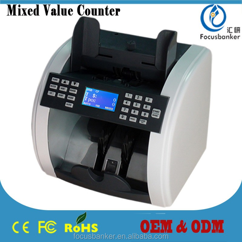 Best-seller FB-800 Professional Banknote Counter / Currency Counting and Checking Machine With USD Serial Number Printing