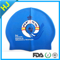 adult and children size printing silicone swim cap