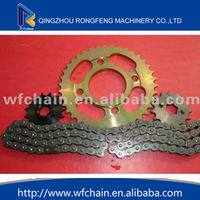 A3 steel standard motorcycle chain and sprocket,Motorcycle Chain and Sprocket for CG125