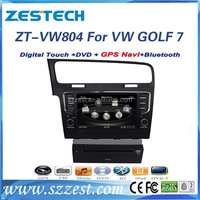 ZESTECH Touch Screen,Bluetooth-enabled,Mp3/Mp4,DVD/VCD,GPS,Radio Tuner,SWC and dashborad placement car dvd for vw golf 7