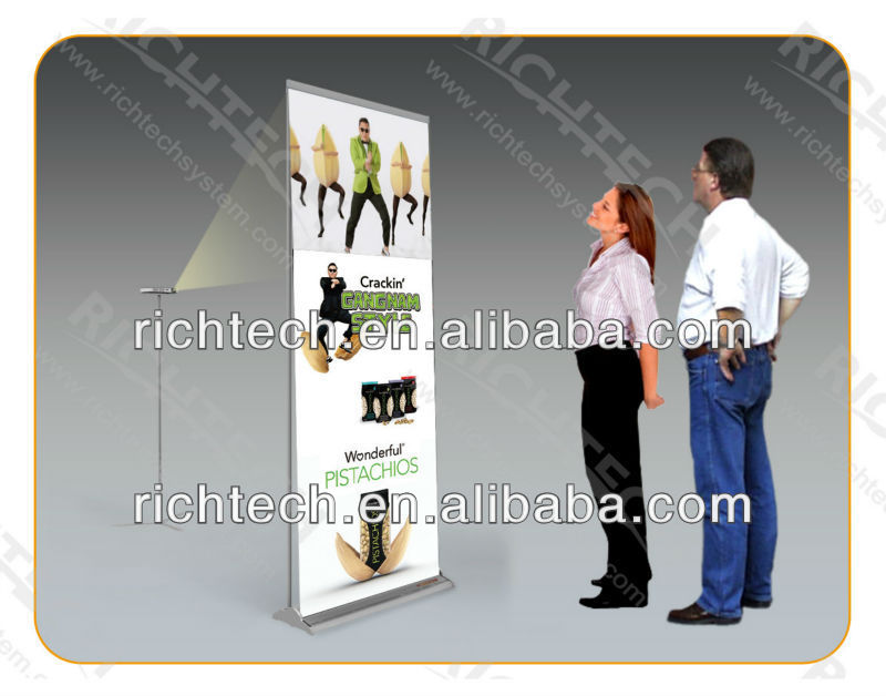 RichTech roll up banner stand makes your product more attractive with dynamic images and videos