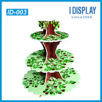 Retail pos christmas tree cardboard display, crystal cake stands for wedding cak