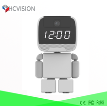 Newest clock robot cam wireless tour guide system telecamere wifi ip viewerframe mode refresh network camera