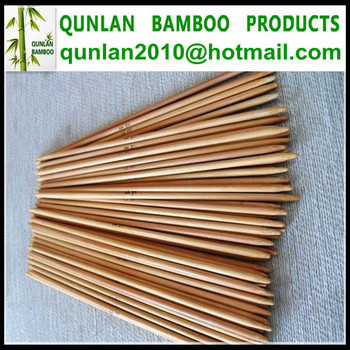 Natural Color Double Points Bamboo Needles