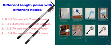 Cleaning product Aluminum Telescopic pole , roof ,ceiling ,bathroom and conner brush ,window scraper and bulb changer