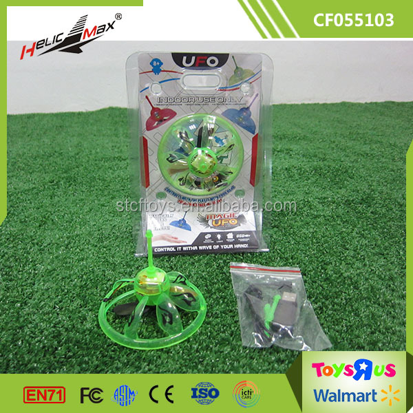 Bright Light Plastic Flying Toys Hand Sensor Induction Hover Magic UFO from Shantou