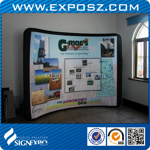 Advertising 10FT Curved Tension Fabric Media Wall