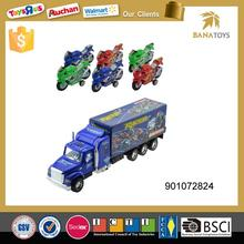 Diecast miniature vehicle model trailer truck for kids