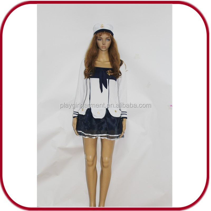 halloween cosplay white navy uniform japan sex girl costume for sale PGFC-2964