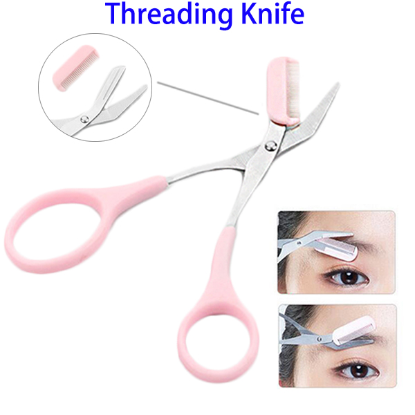 Cosmetic Makeup Tool Stainless Steel Threading Eyebrow Trimmer Eyebrow Knife for Women