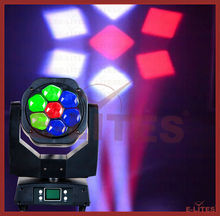 working led lights,7*15W 4in1 zoom bee eye moving head light, K5 eye stage moving