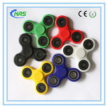 High quality 608 bearing tri hand spinner abs plastic figet spinner for fun
