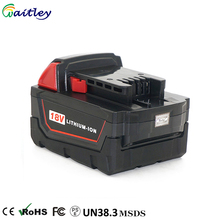 High Capacity 18V 6.0Ah replacement cell batteries pack for milwaukee drill m18 Cordless Power Tools