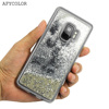 Factory glitter liquid custom cell phone case for Samsung galaxy S9 plus luxury covers