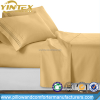 Wholesale Premium quality Fitted bed sheet 50% Polyester 50% Cotton Bed sheet bedding set