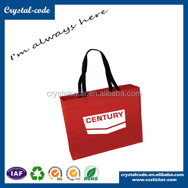 Eye-catching Promotional Thick Polyester Fabric Folding Shopping Bag
