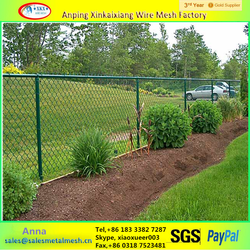 Hot dip galvanized used chain link fence or pvc coated decorative chain link fence for sale