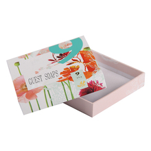 Personalised 15x15 hard paper thin cardboard packaging 4c gift box