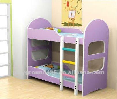 Doble capa de ropa de cama cama doble de madera sillas - Cama doble para ninos ...