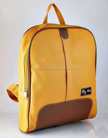 Backpack, Material PVC, Color Mustard, Fashion 2014 Handbag made in Thailand