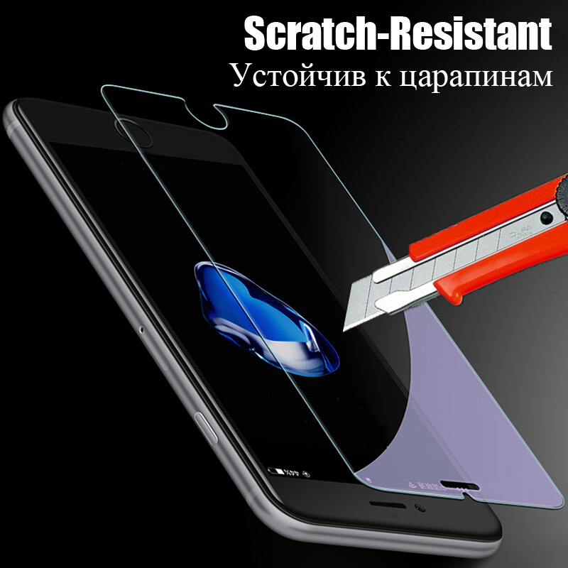 2 Pcs  lot Screen Protector For iPhone 5 5s 5C SE 6 6s 7 8 X Glass Film Ultra-thin Tempered For iPhone 6 6s 7 8 Plus X 5 5s SE   (2)